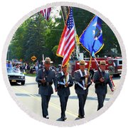 New York State Police Color Guard  5 Round Beach Towel