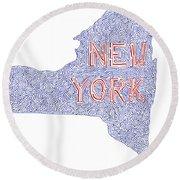 New York Round Beach Towel