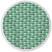 New York Street Sign Times Square  Round Beach Towel