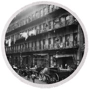 New York: Tenements, 1912 Round Beach Towel
