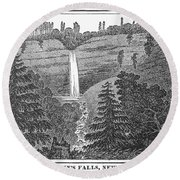New York: Waterfall Round Beach Towel