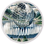 New York World's Fair Round Beach Towel