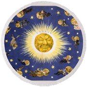 New York's New Solar System Vintage Poster 1898 Round Beach Towel