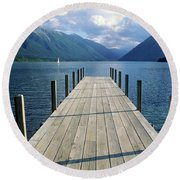 New Zealand Dock Round Beach Towel