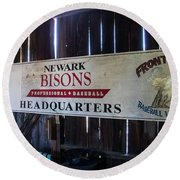 Newark Bisons Round Beach Towel
