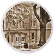 Newberry Opera House Newberry Sc Sepia Round Beach Towel