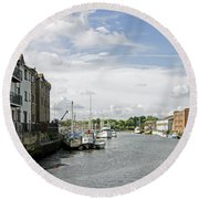 Newport Harbour Iow Round Beach Towel
