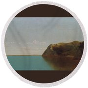 Newport Rocks Round Beach Towel
