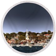 Newport Round Beach Towel