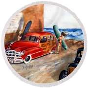 Newport Woody Round Beach Towel