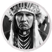 Nez Perce Native American - To License For Professional Use Visit Granger.com Round Beach Towel