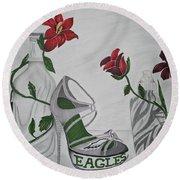 Nfl Eagles Stiletto Round Beach Towel