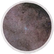 Ngc 6067 In Norma Star Cloud Round Beach Towel