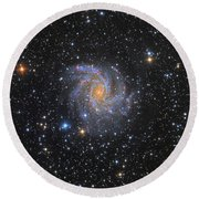 Ngc 6946, The Fireworks Galaxy Round Beach Towel