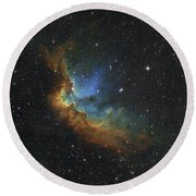 Ngc 7380 In Hubble-palette Colors Round Beach Towel by Rolf Geissinger