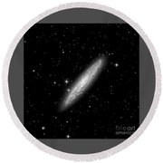 Ngc253 The Sculptor Galaxy Round Beach Towel