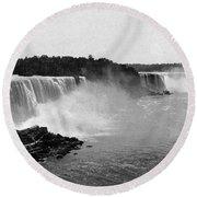 Niagara Falls, C1900 Round Beach Towel