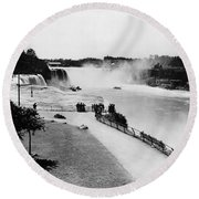 Niagara Falls, C1905 Round Beach Towel