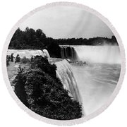 Niagara Falls, C1910 Round Beach Towel