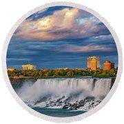 Niagara Falls - The American Side 3 Round Beach Towel