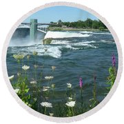Niagara Falls Usa - Photo Round Beach Towel