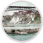 Niagara River, C1900.  Round Beach Towel by Granger