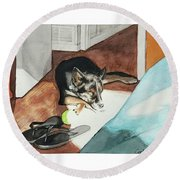 Nibbles Round Beach Towel