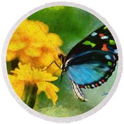 Nice Butterfly Round Beach Towel