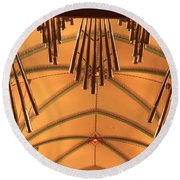 Nice Set Of Pipes Round Beach Towel