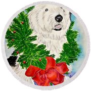 Nicholas Christmas 2013 Round Beach Towel