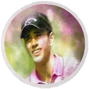Nick Dougherty In The Golf Trophee Hassan II In Morocco Round Beach Towel