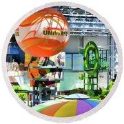 Nickelodeon Universe Indoor Amusement Park Round Beach Towel