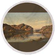 Nielsen, Amaldus Clarin 1838-1932 Morning, Ny-hellesund 1909 Round Beach Towel