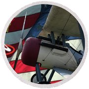Nieuport 28c Hat In The Ring Round Beach Towel