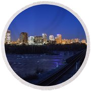 Night At The Floodwall 2 Round Beach Towel