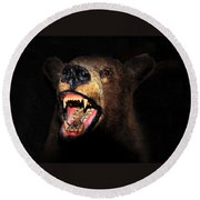 Night Attack Round Beach Towel