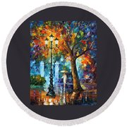 Night Aura Round Beach Towel