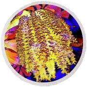 Night Bloom Round Beach Towel