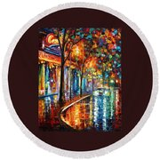 Night Cafe Round Beach Towel