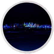 Night City Round Beach Towel
