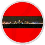 Night Cleveland Round Beach Towel