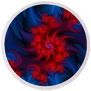 Night Fire Round Beach Towel