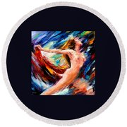 Night Flight  Round Beach Towel