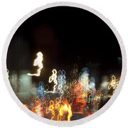 Night Forest - Light Spirits Limited Edition 1 Of 1 Round Beach Towel