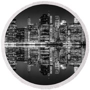 Night Grooves Round Beach Towel