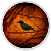 Night Guard Round Beach Towel