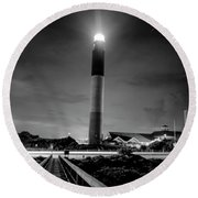 Night Guardian  Round Beach Towel