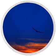 Night Hawk Round Beach Towel