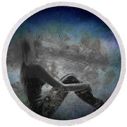 Night Hope V2 Round Beach Towel