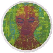 Night Round Beach Towel